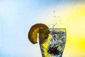 Trinkwasser-Glas